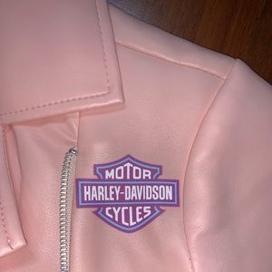 Harley Davidson Pink Leather Jacket
